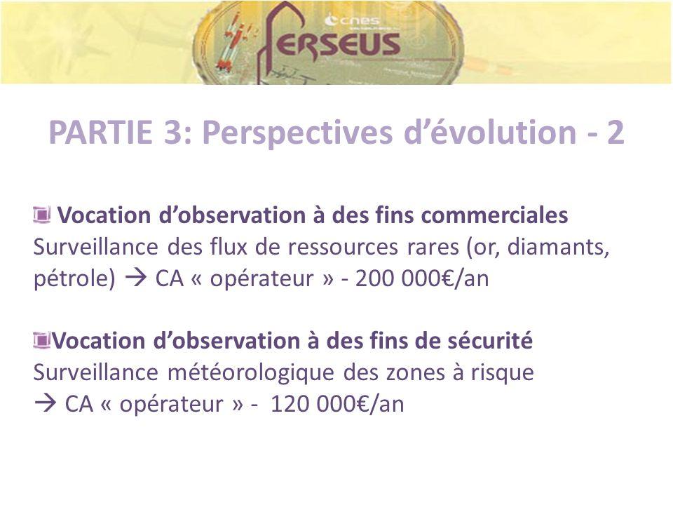 PARTIE 3: Perspectives dévolution - 2 Vocation dobservation à des fins commerciales Surveillance des flux de ressources rares (or, diamants, pétrole)