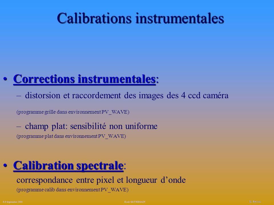 Création des fichiers de calibration M.