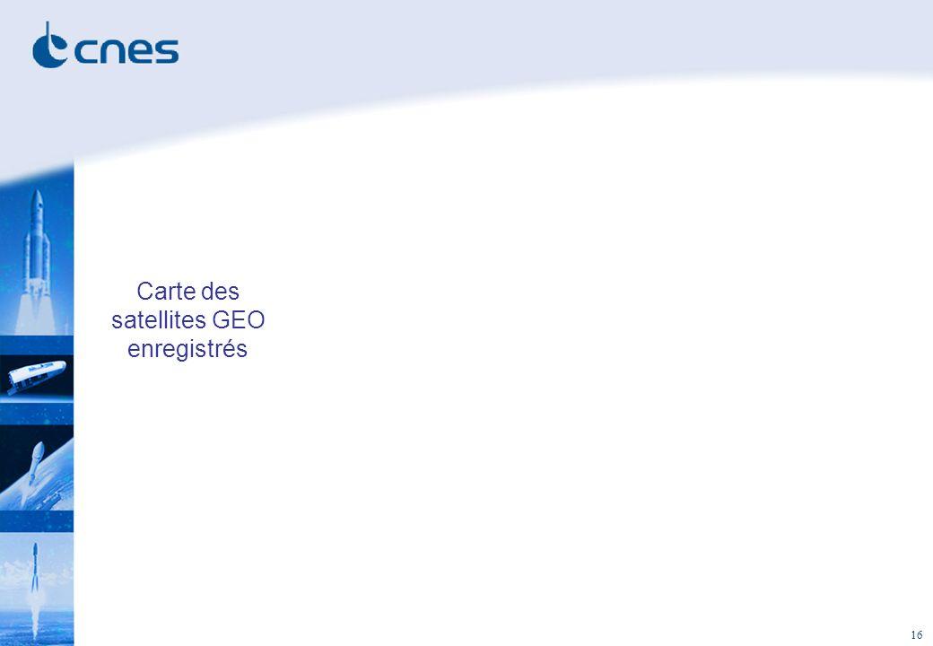 16 Carte des satellites GEO enregistrés