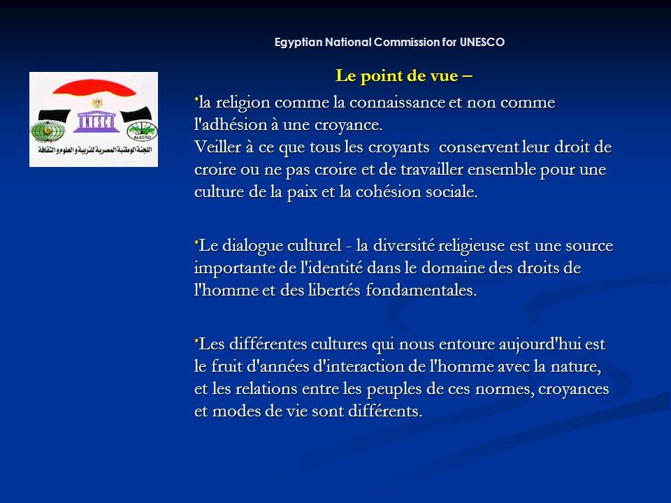 Je vous remerci de votre attention Contacte Contacte http://www.egnatcom.org.eg education@egnatcom.org.eg ahmed.abbas@egnatcom.org.eg Ahmed Abbas Cultural Specialist Egyptian Commission for Unesco Egyptian National Commission for UNESCO Egyptian National Commission for UNESCO