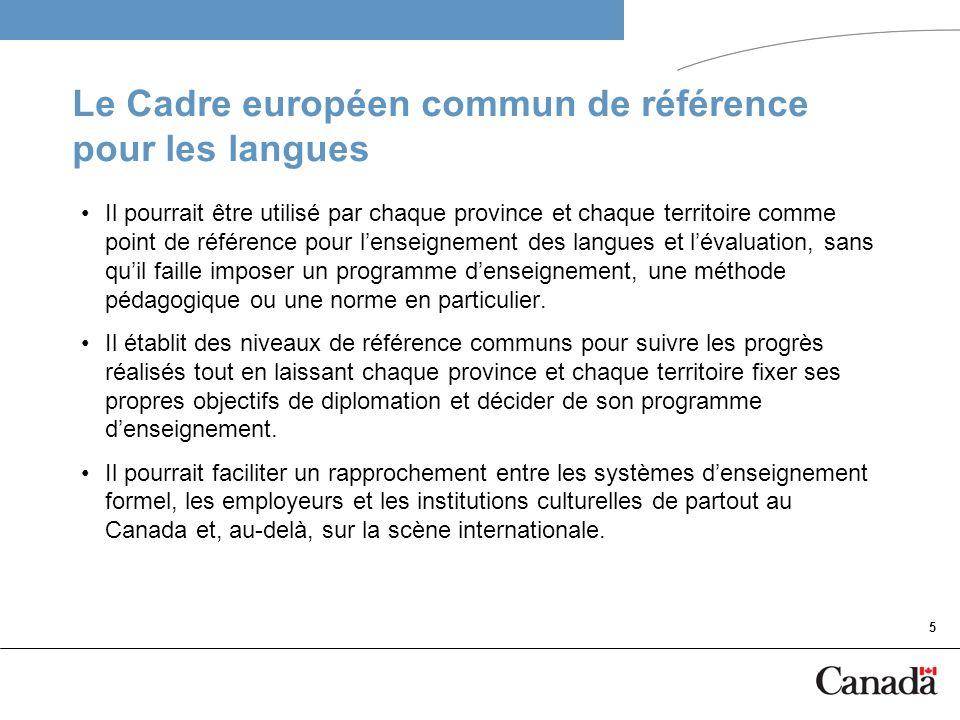 6 Précurseurs du projet La participation à titre dobservatrice canadienne de la professeure Sally Rehorick au projet du Portfolio européen des langues (PEL).