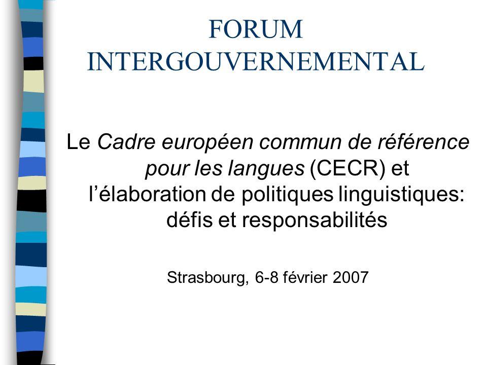Curricula et Formation des enseignants Les programmes de langues vivantes revus à la lumière du CECR en France