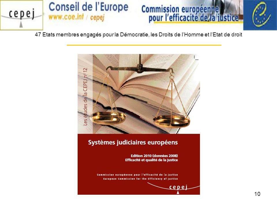 10 47 Etats membres engagés pour la Démocratie, les Droits de lHomme et lEtat de droit