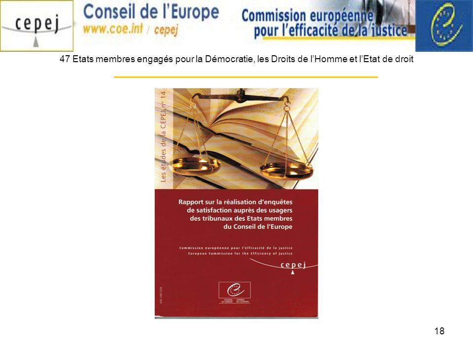 18 47 Etats membres engagés pour la Démocratie, les Droits de lHomme et lEtat de droit