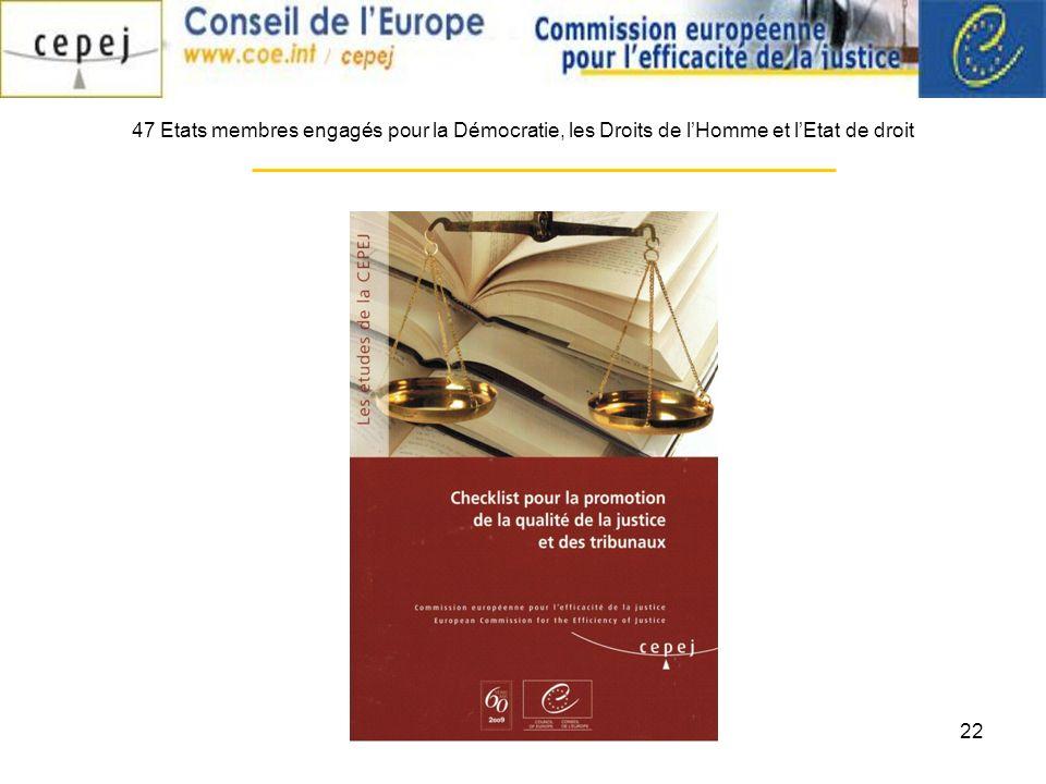 22 47 Etats membres engagés pour la Démocratie, les Droits de lHomme et lEtat de droit