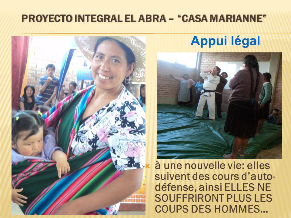 PROYECTO INTEGRAL EL ABRA – CASA MARIANNEPROYECTO INTEGRAL EL ABRA – CASA MARIANNE à une nouvelle vie: elles suivent des cours dauto- défense, ainsi E