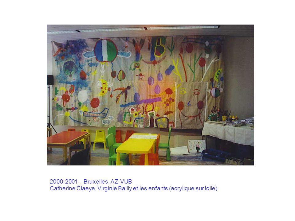 2001 – Madrid, Hospital San Rafael Les anges de la vie : techniques mixtes sur papier (59, 4 x 42)