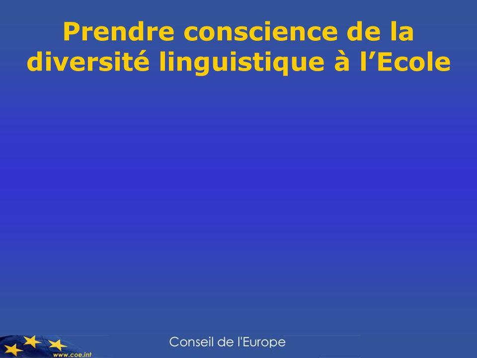 Prendre conscience de la diversité linguistique à lEcole