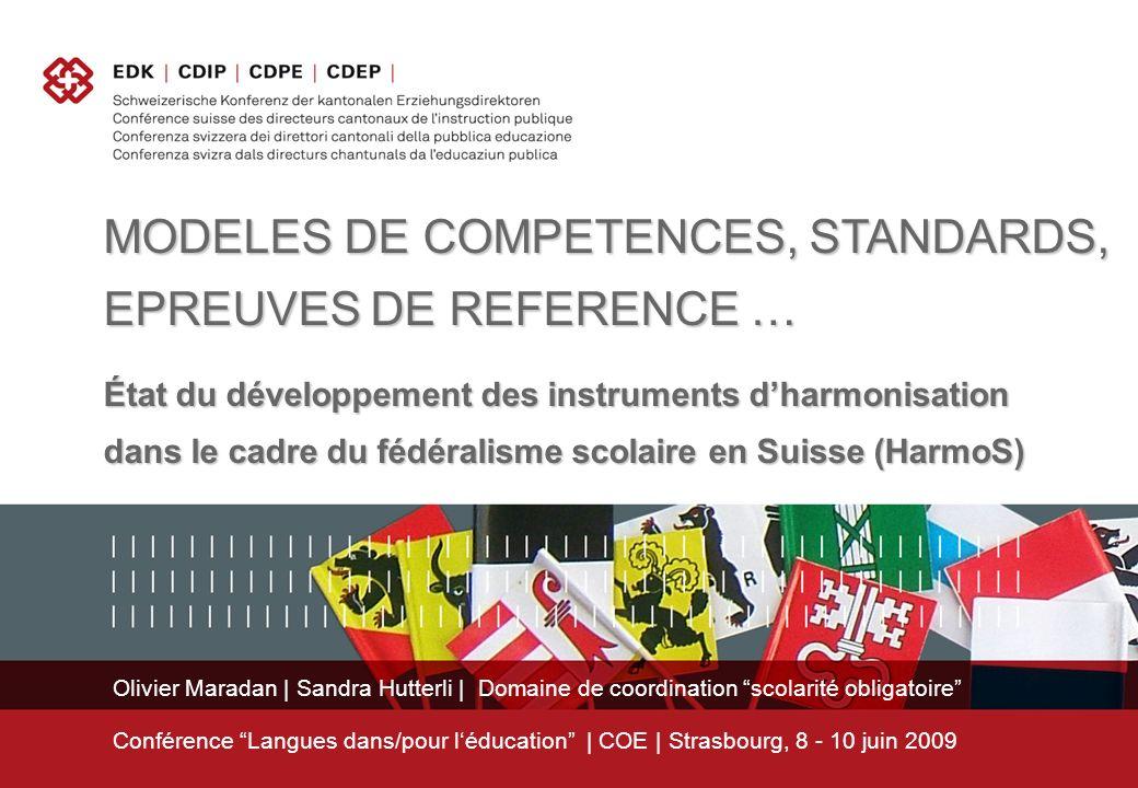 Olivier Maradan | Sandra Hutterli | Domaine de coordination scolarité obligatoire Conférence Langues dans/pour léducation | COE | Strasbourg, 8 - 10 j