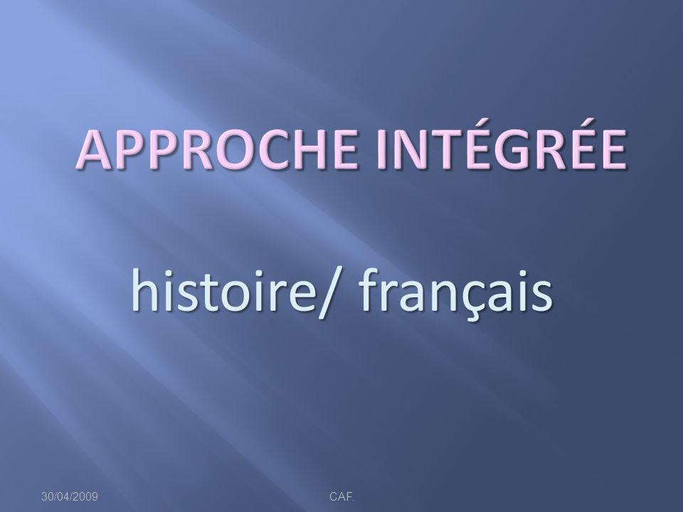 histoire/ français 30/04/2009CAF.