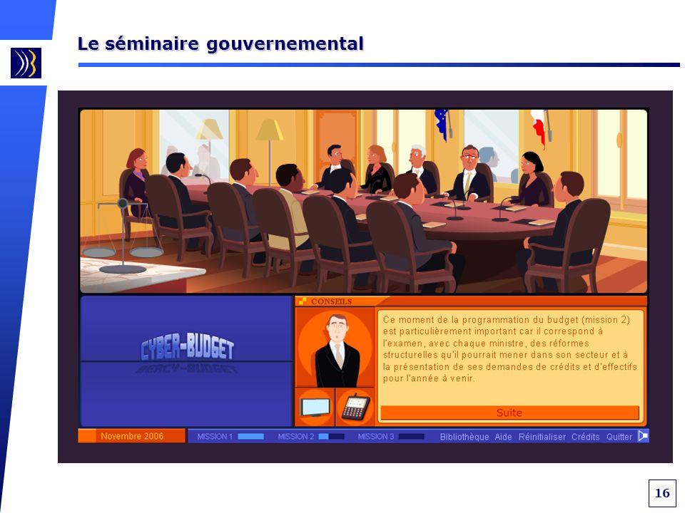 16 Le séminaire gouvernemental