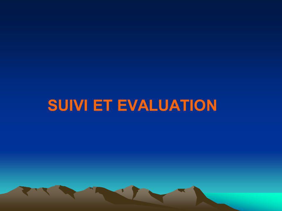 SUIVI ET EVALUATION