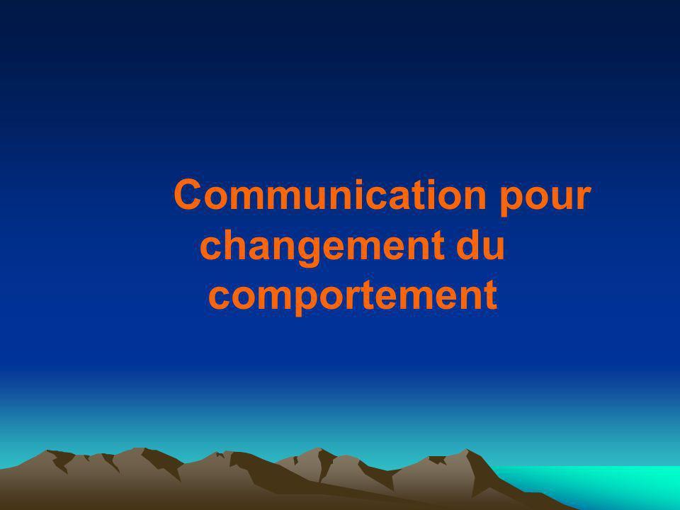 Communication pour changement du comportement