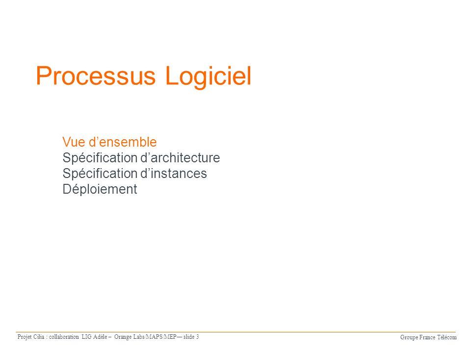 Groupe France Télécom Projet Cilia : collaboration LIG Adèle – Orange Labs/MAPS/MEP slide 14 Exemple de deux instances de Translator FacturationFixe FacturationMobile