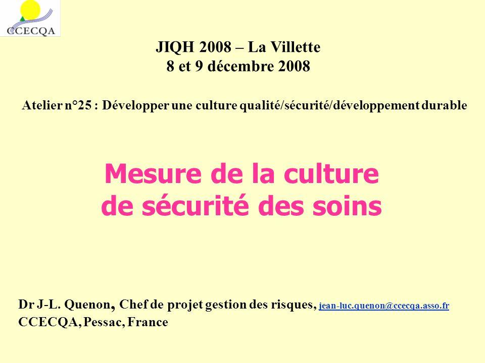 Groupe de travail CCECQA : P.Occelli, B. Hubert, S.