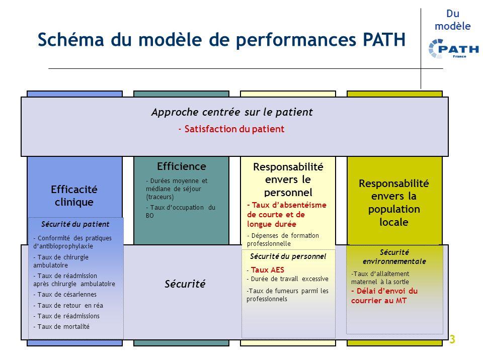 3 Approche centrée sur le patient Sécurité Responsabilité envers le personnel Efficience Efficacité clinique Responsabilité envers la population local