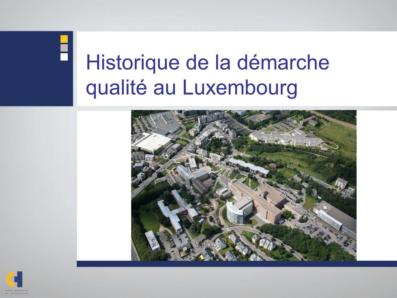 Historique de la démarche qualité au Luxembourg