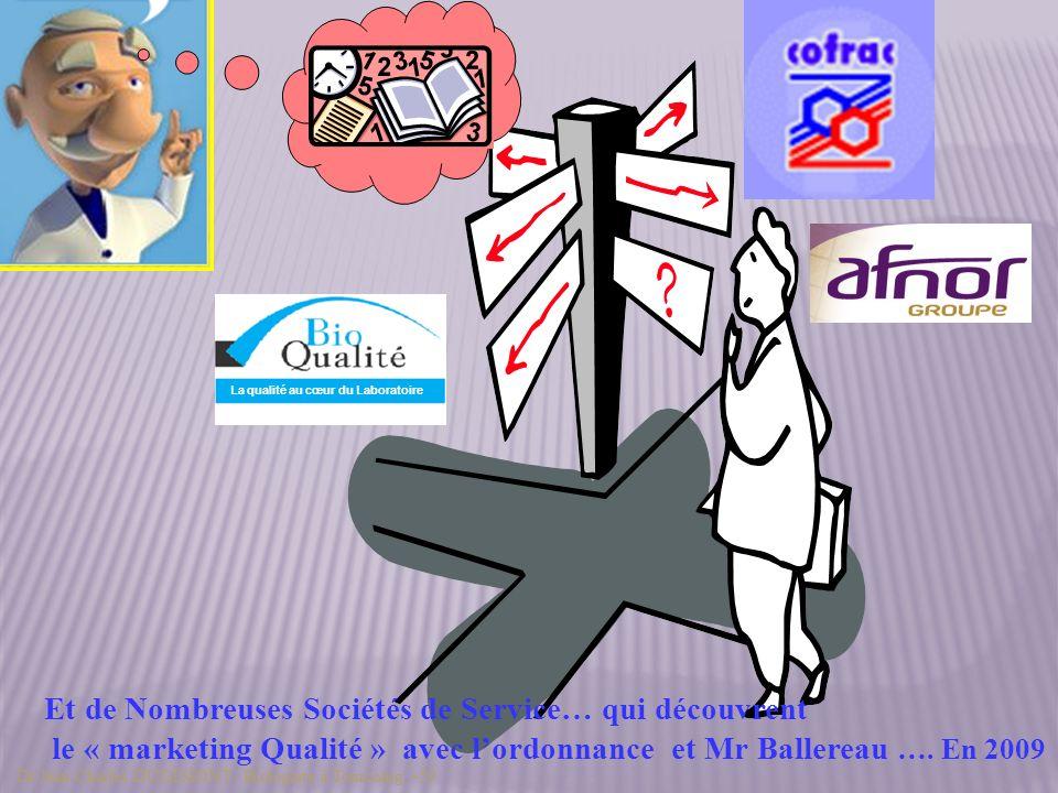 La démarche de Certification Souvent dite Certification de systèmes Commission Santé à L AFNOR ISO 9001 version 2000 Maintenant version 2008 Dr Jean Charles DUGIMONT - Biologiste à Tourcoing –59