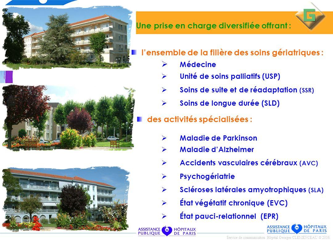 Médecine Unité de soins palliatifs (USP) Soins de suite et de réadaptation (SSR) Soins de longue durée (SLD) des activités spécialisées : lensemble de
