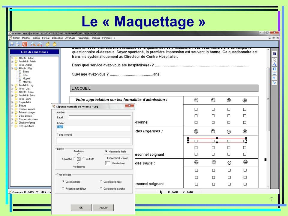 7 Le « Maquettage »