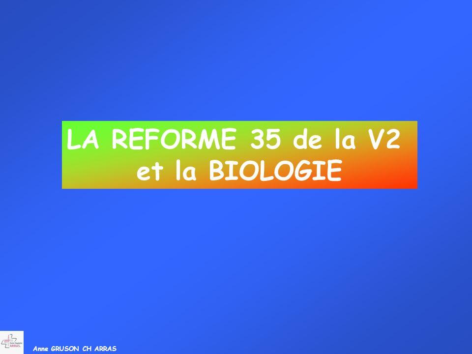 Anne GRUSON CH ARRAS LA REFORME 35 de la V2 et la BIOLOGIE
