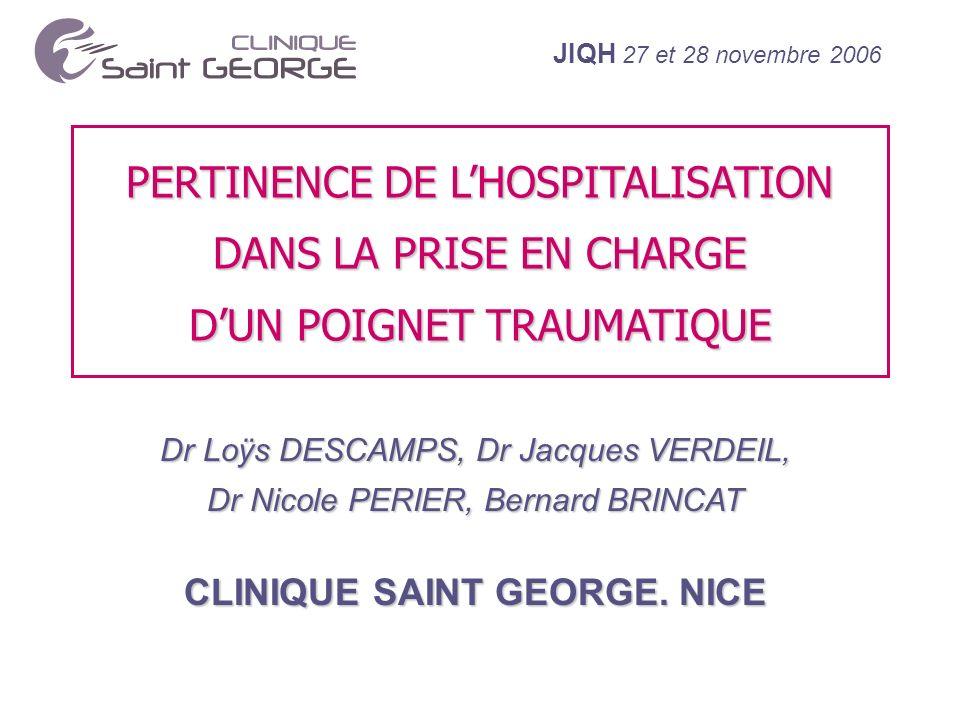 JIQH 27 et 28 novembre 2006 MÉTHODE UTILISÉE : CHEMIN CLINIQUE (2) 3.