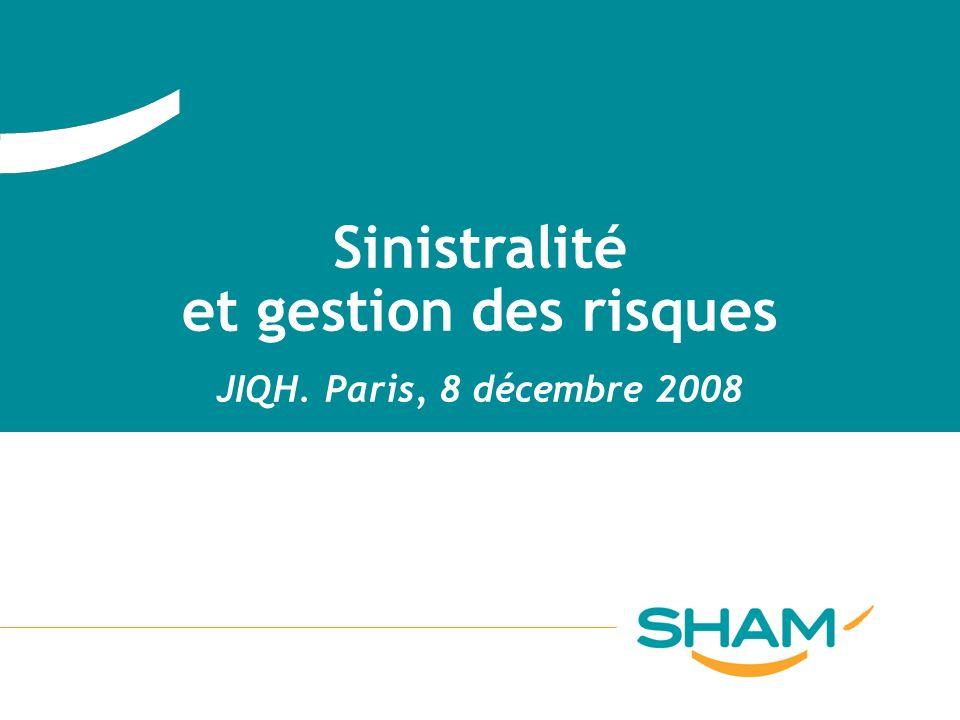 Sinistralité et gestion des risques JIQH. Paris, 8 décembre 2008