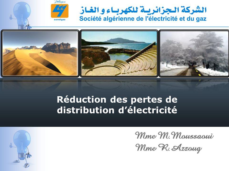 Réduction des pertes de distribution délectricité