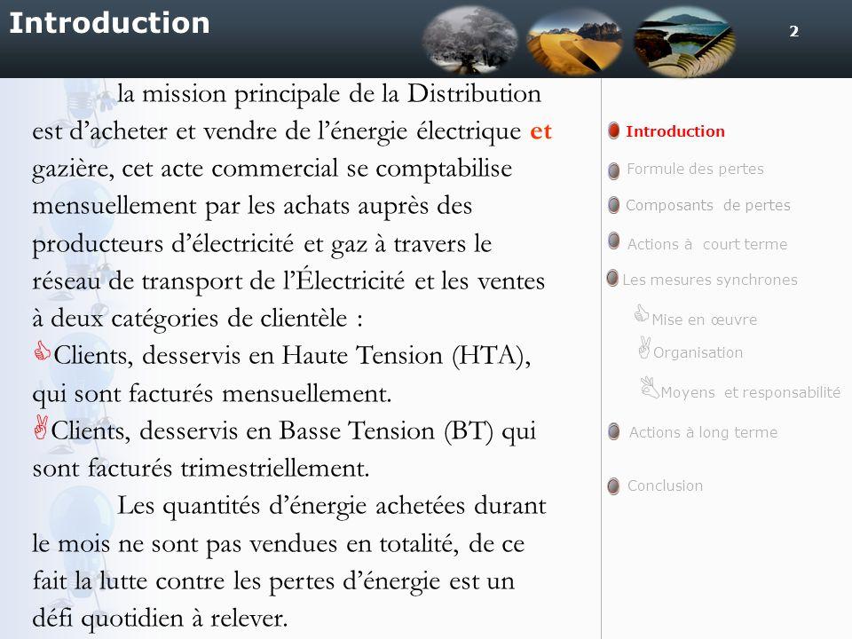2 Introduction la mission principale de la Distribution est dacheter et vendre de lénergie électrique et gazière, cet acte commercial se comptabilise