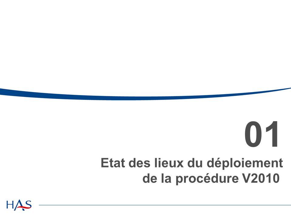 01 Etat des lieux du déploiement de la procédure V2010