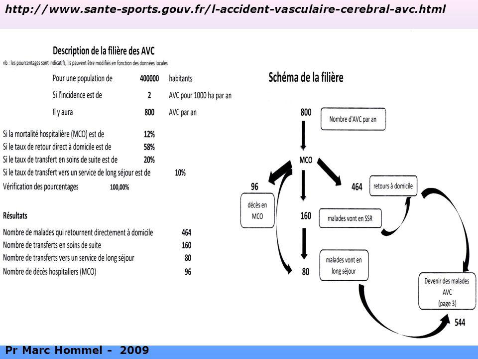 http://www.sante-sports.gouv.fr/l-accident-vasculaire-cerebral-avc.html Pr Marc Hommel - 2009