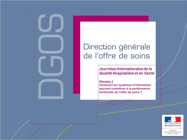 Direction générale de loffre de soin Journées Internationales de la Qualité Hospitalière et en Santé Plénière 3 Comment les systèmes dinformation peuvent contribuer à la performance territoriale de l offre de soins ?