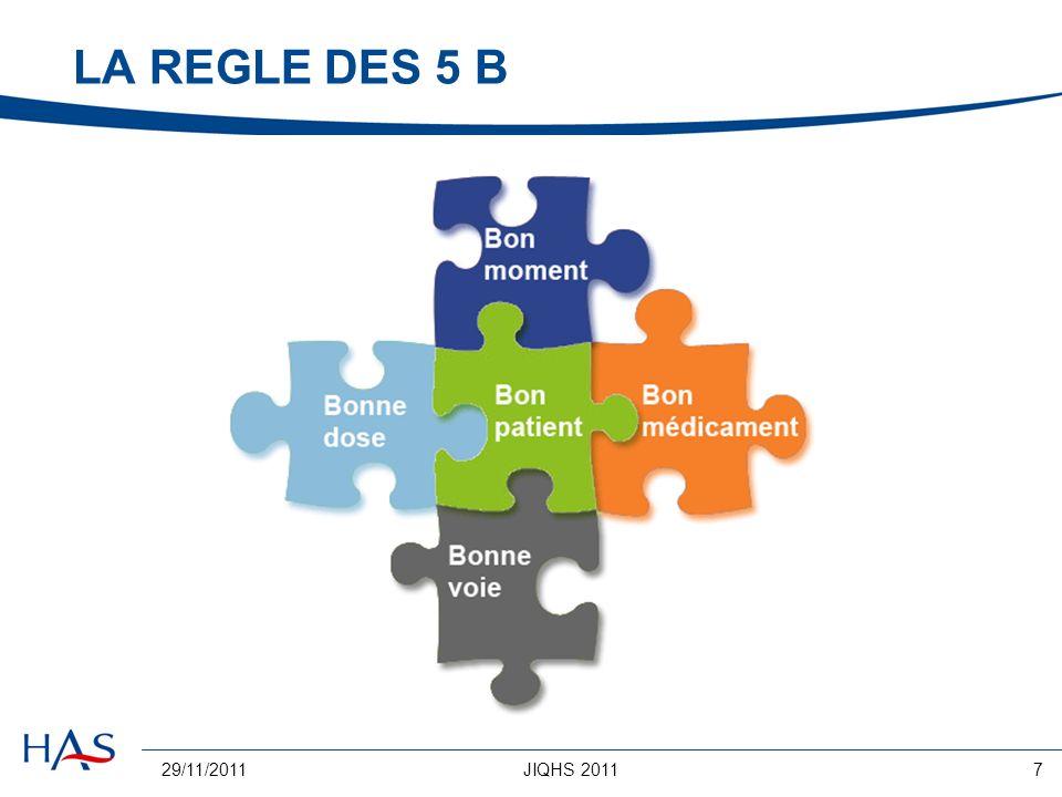 29/11/2011JIQHS 20117 LA REGLE DES 5 B