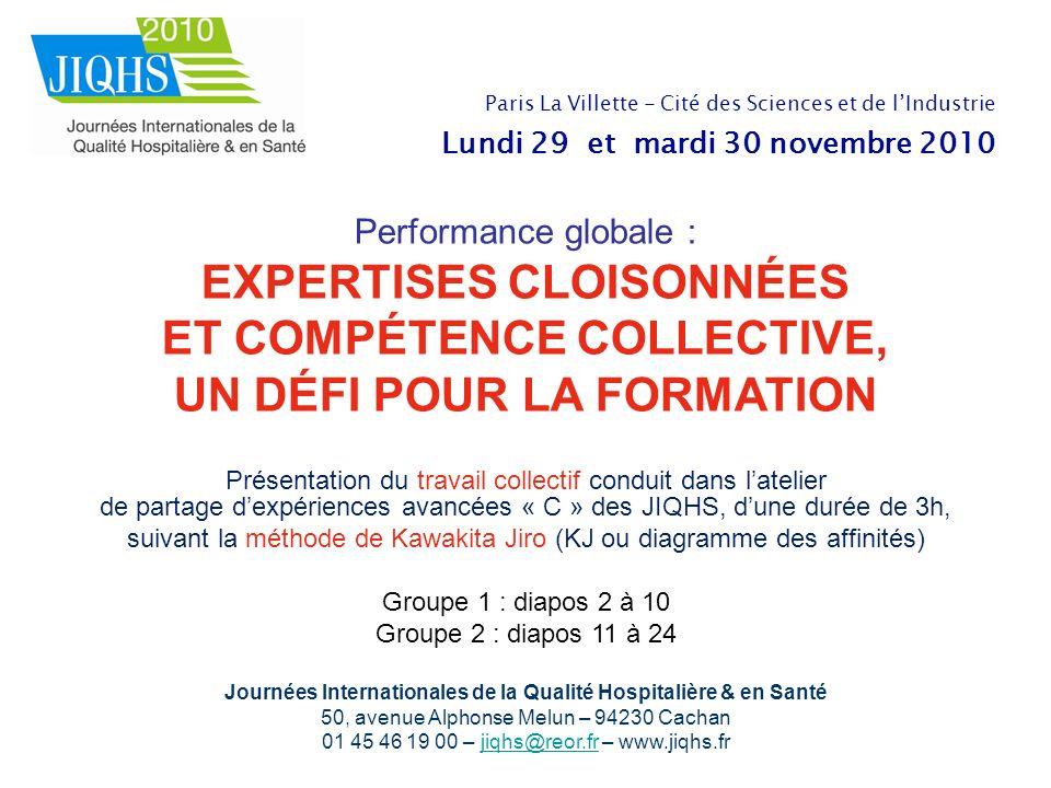 Journées Internationales de la Qualité Hospitalière & en Santé 50, avenue Alphonse Melun – 94230 Cachan 01 45 46 19 00 – jiqhs@reor.fr – www.jiqhs.frj