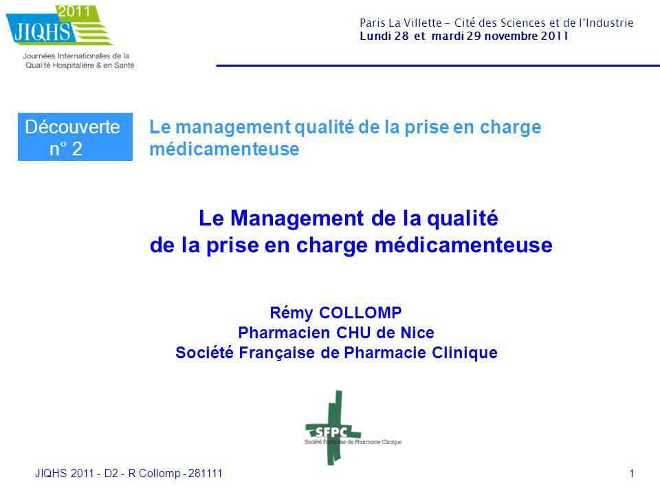 JIQHS 2011 - D2 - R Collomp - 2811112 Les exigences Contrat de Bon Usage