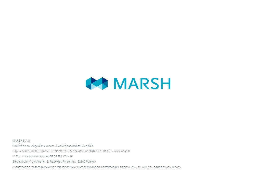 MARSH 9 26 January 2014 Rôle du courtier dans la gestion des risques à létranger Marsh implanté dans 140 pays dans le monde Des différences importante
