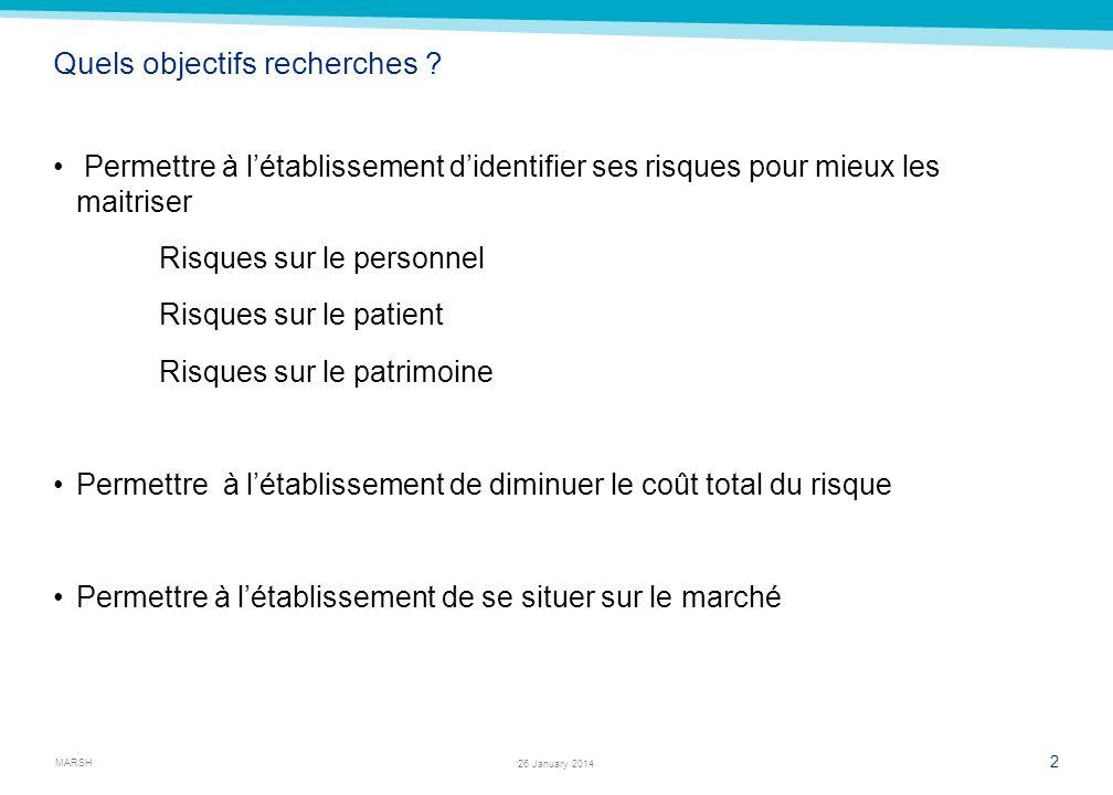 MARSH 1 26 January 2014 Le courtier par rapport à lassureur… 3 différences fondamentales: Le courtier ne vend pas directement de contrat dassurance, i