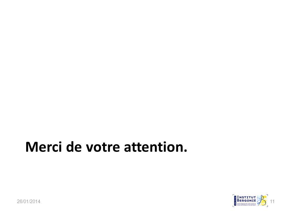 11 Merci de votre attention. 26/01/2014