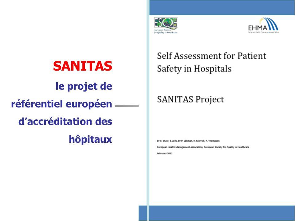 6 SANITAS le projet de référentiel européen daccréditation des hôpitaux