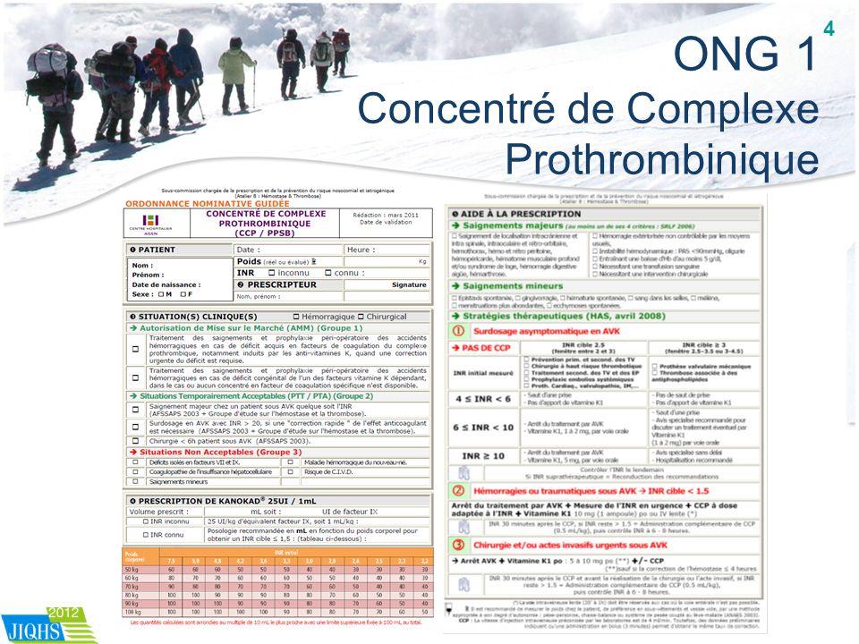 ONG 1 Concentré de Complexe Prothrombinique 4