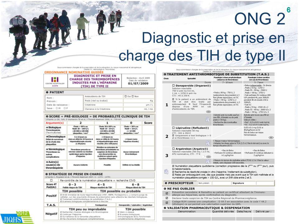 ONG 2 Diagnostic et prise en charge des TIH de type II 6