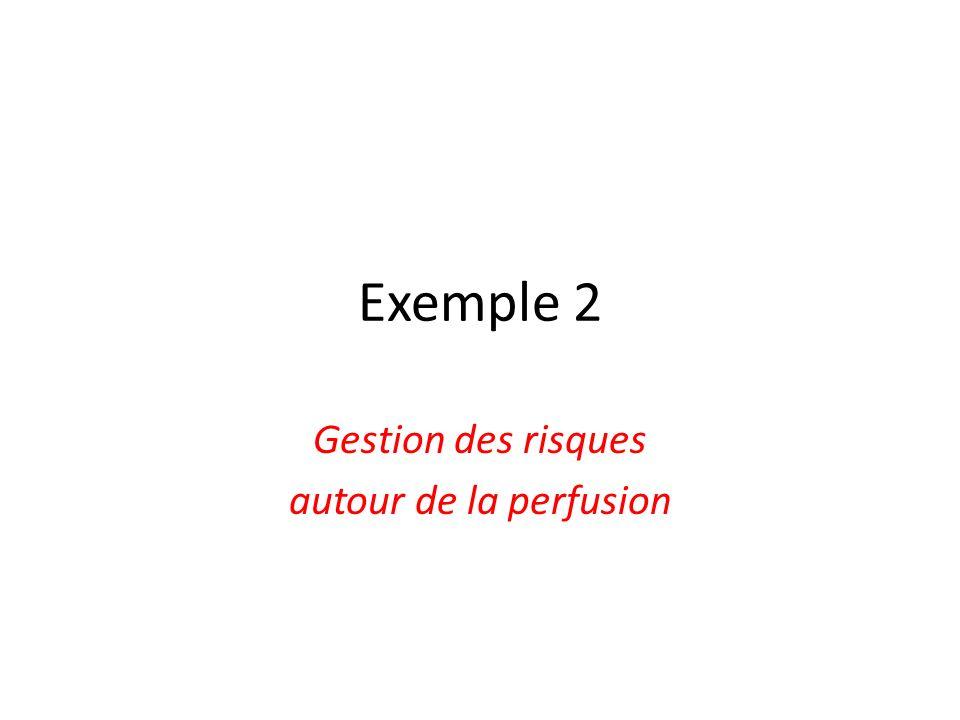 Exemple 2 Gestion des risques autour de la perfusion