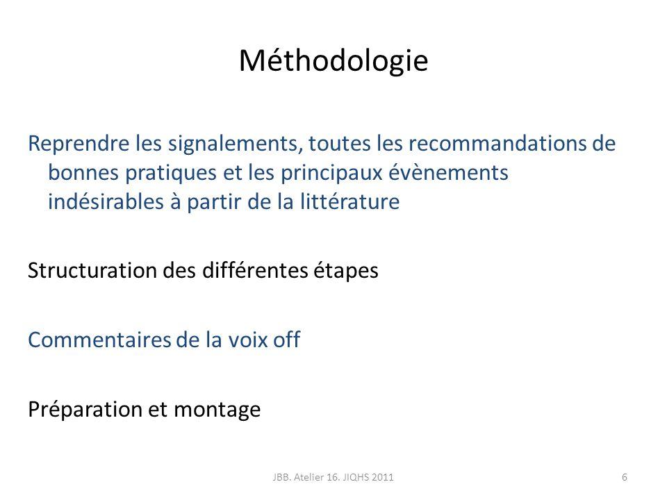 Méthodologie Reprendre les signalements, toutes les recommandations de bonnes pratiques et les principaux évènements indésirables à partir de la litté