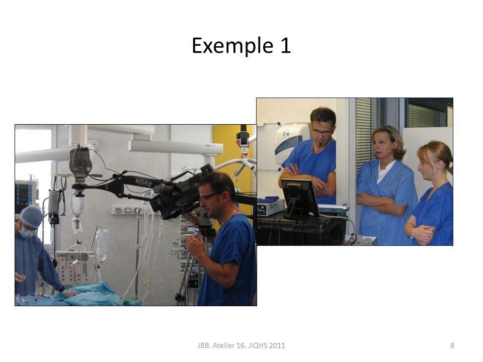Structuration des étapes JBB. Atelier 16. JIQHS 20119 Préparation de linfirmier