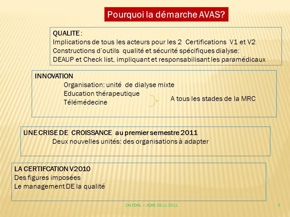 QUALITE : Implications de tous les acteurs pour les 2 Certifications V1 et V2 Constructions doutils qualité et sécurité spécifiques dialyse: DEAUP et