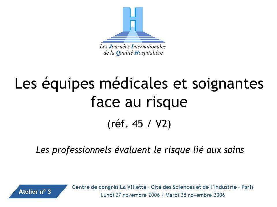 1 Synthèse des interventions des 8 ème JIQH des 27 & 28 novembre 2006 Les équipes médicales et soignantes face au risque (réf.