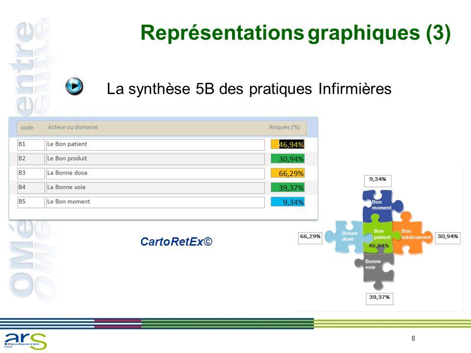 8 Représentations graphiques (3) La synthèse 5B des pratiques Infirmières CartoRetEx©