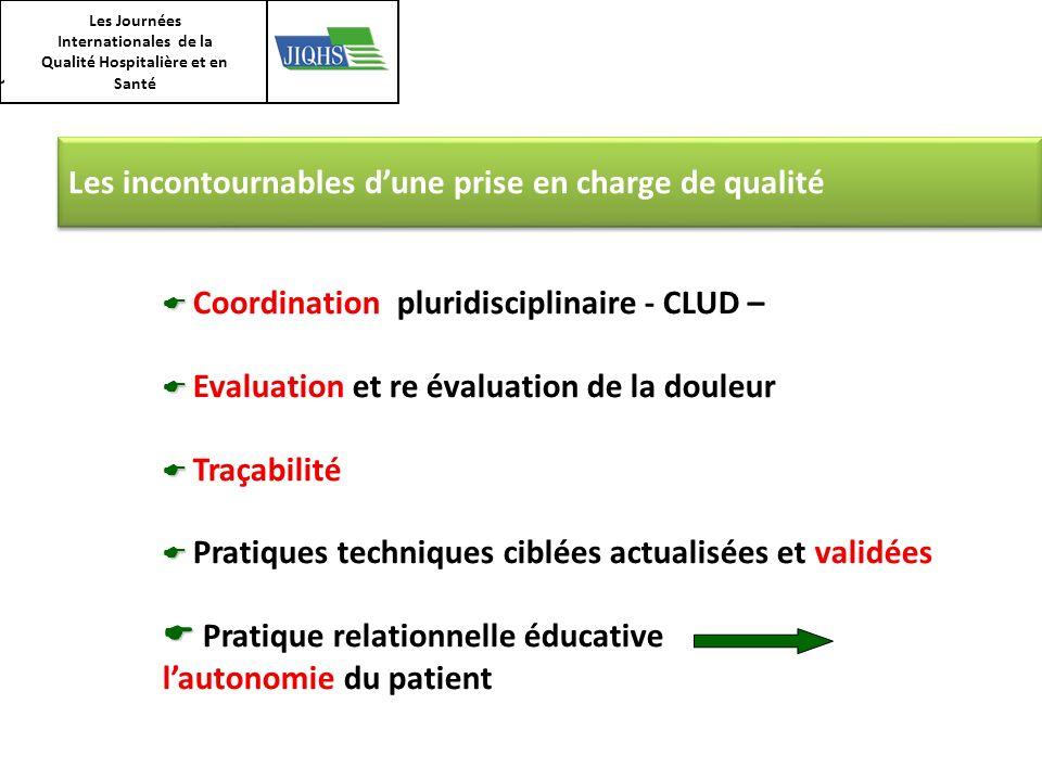 Les Journées Internationales de la Qualité Hospitalière et en Santé Les incontournables dune prise en charge de qualité Coordination pluridisciplinair