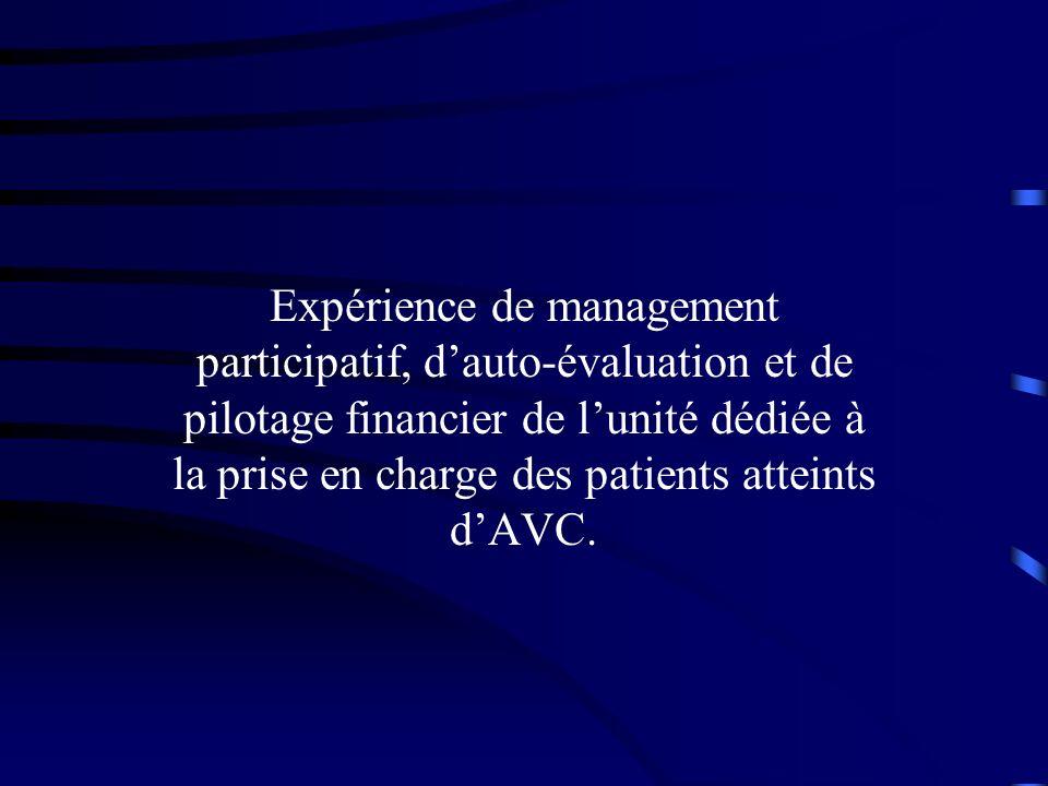 Expérience de management participatif, dauto-évaluation et de pilotage financier de lunité dédiée à la prise en charge des patients atteints dAVC.