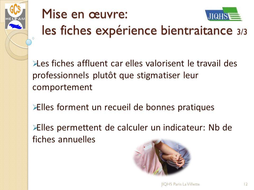 JIQHS Paris La Villette Les fiches affluent car elles valorisent le travail des professionnels plutôt que stigmatiser leur comportement Elles forment